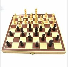 3 IN 1 WOODEN GAMES SET Travel Game Chess, Draughts and Backgammon