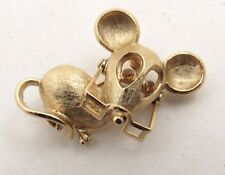 Vintage Avon Mouse Brooch Gold Tone A716