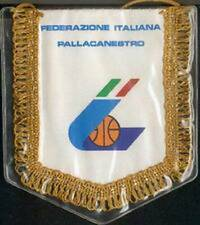 ITALY ITALIA BASKETBALL FEDERATION SMALL PENNANT 14x12cm NEW SEALED