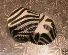 BLACK ZEBRA DESIGN CUPCAKE LINERS 50 CT STD