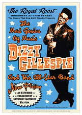 VINTAGE JAZZ POSTER Dizzy Gillespie: Royal Roost NYC, 1948 Music 24x17 Art Print