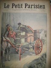 DAX SCHYZO ET LIVREUR KABYLIE ATTAQUE DE PANTHERE JOURNAL LE PETIT PARISIEN 1909