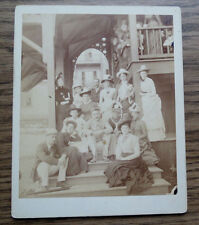 ANTIQUE PHOTO of MEN & WOMEN TENNIS PLAYERS