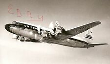 """1960'S 11X14 HUGE PHOTO OF A UNITED DC-7 MAINLINER IN FLIGHT"""" CITY OF SAN FRAN"""""""