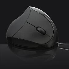 Cablata USB ottico verticale ergonomico Mouse polso guarigione per Laptop PC