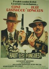 """HAUT LES FLINGUES (CITY HEAT)"" Affiche entoilée (Clint EASTWOOD, Burt REYNOLDS)"