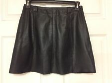 Wilsons Leather Maxima ladies leather skirt size 12 black sexy mini side zip 101
