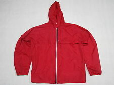 Regen Jacke Windbreaker Vintage Wind Jacket Rain Coat Nylon Vintage Rot Red Gr L