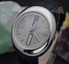 Circa 1970 BULOVA Day Date Automatic 11ANACB Stainless Steel UFO Retro Watch