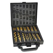 Titanium Coated HSS Drill Bit Set 99 Pc Piece and Case Plastic Wood Metal Kit