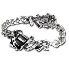 Alchemy Gothic UL13 Tattoo Gun Ink Chunky Bracelet Pewter ULA3