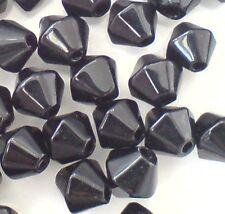 50 Piezas 8mm valor Estilo cristal bicono cuentas-Negro-a2808