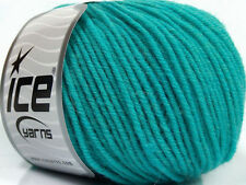 Lot of 6 Skeins Ice Yarns SUPERWASH MERINO Knitting Wool Turquoise