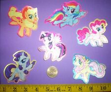 New! Cool! My Little Pony SILK IRON-ONS FABRIC APPLIQUES IRON-ONS