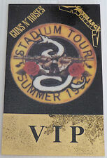 GUNS N ROSES/METALLICA Laminated VIP Backstage Tour Pass - SUMMER 1992 (Gold)