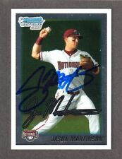 2010 BOWMAN CHROME BDPP 30  Jason Martinson NATIONALS  SIGNED AUTOGRAPH AUTO COA