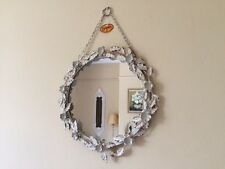 Shabby Chic French Vintage Cream Floral Round Mirror Bedroom Hall Bathroom Gift