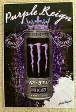 2008 Monster MIXXD Energy Drink PURPLE REIGN Rain Store Cooler Label 4x6 Prince