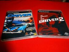EMPTY Replacement Cases! Driver 1 & 2 Compilation Twin Pack Sony PlayStation PS1