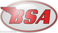 Motorbike Exterior Vinyl Stickers BSA Motorcycle Decals B.S.A. Oval x 2