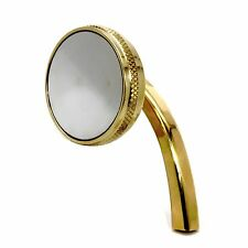 MOTORCYCLE MIRRORS BRASS HARLEY CHOPPER BOBBER CAFE LEFT HAND