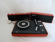 Vintage Retro Philips 603 Red Portable Record Player Turntable