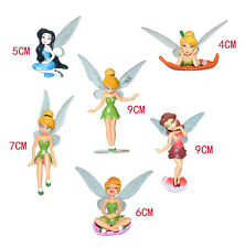 6pcs Flower Fairy Miniature Figurine Dollhouse Garden Ornament Decor Tinker Bell