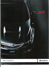 NEW 2008 SUBARU WRX STI  IMPREZA AND FULL LINE  BROCHURE LEGACY OUTBACK FORESTER