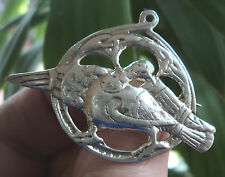 Scottish Silver Iona Celtic Alexander Ritchie Dove Brooch  - h/m 1946 Chester