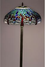 Floor Lamps For Living Room Tiffany Style Dragonfly Blue Stained Glass Decor New
