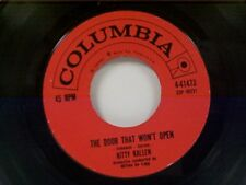 "KITTY KALLEN ""THE DOOR THAT WON'T OPEN / IF I GIVE MY HEART TO YOU"" 45"