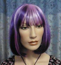 China Doll Pagankopf Bob Perücke in einem gesträhnten lila