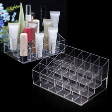 Acrylic 24 Cosmetic Organizer Makeup Case Holder Display Stand Storage Box New