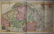 Österreichische Niederlande - Belgien - Seltene, große Karte von J. Ottens 1720