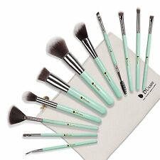 Beautiful MINT GREEN Glam DuCare 11 x Make Up Vegan Brush Gift Set - New