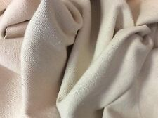 SOFT CREAMY WHITE WOVEN COTTON  UPHOLSTERY FABRIC