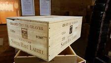 1 X 12 BOTTIGLIE VINO BOX CON COPERCHIO-cassa in legno fioriera NATALE ostacolare Retrò