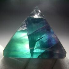 Rainbow Fluorite Crystal Pyramid Carving-flpd0148