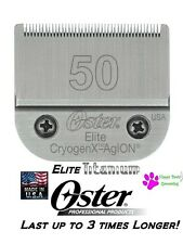 Oster A5 ELITE CryogenX TITANIUM 50 Clipper Blade*Fits Most Andis*LAST 3X LONGER