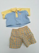 American Girl Bitty Baby Twins Boy Sunny Day Outfit Shorts Shirt Retired 2003