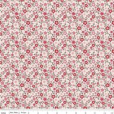 By 1/2 Yard ~ Cowgirl Calico Cream ~ Riley Blake Fabric Western Pink /Red Floral