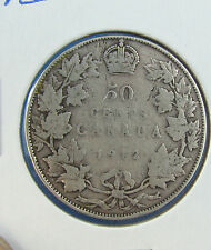 Canada 1912 50 cents silver nice coin VG