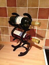 Horse Shoe 3 Tier 3 Bottle Wine Rack Stand Holder Christmas Present