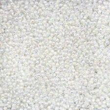 White-Lined Crystal AB 2.2mm Seed Beads Miyuki Size 11/0 24g Tube (B40/12)