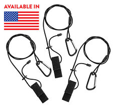 "3 Pack - 42"" Adjustable Length Kayak Canoe Paddle Fishing Rod and Gear Leashes"