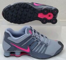 NIB NIKE SHOX CURRENT GS GREY PINK ATHLETIC RUNNING SHOES 5Y = Sz 6.5 WOMENS