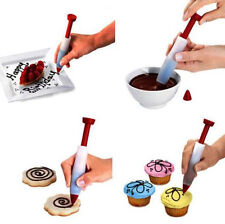 Silicone Plate Pen Cake Cookie Pastry Cream Chocolate Icing Decorating Syringe w