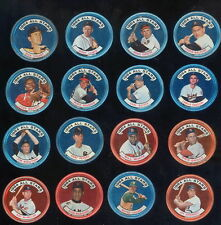 1964 TOPPS BASEBALL COINS LARGE LOT WITH BROOKS ROBINSON, MARICHAL, EXCELLENT