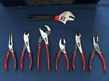 NEW CRAFTSMAN PROFESSIONAL PLIERS AND ADJUSTABLE WIDE MOUTH WRENCH  7 PIECE SET