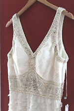 NWT Sue Wong Beautiful Beaded Ivory White Sequined Designer Dress N4367 12 $498